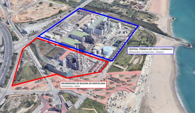 Imagen aérea de Las instalaciones contaminantes
