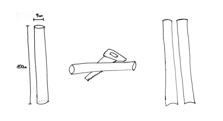 Cortar el tubo longitudinalmente