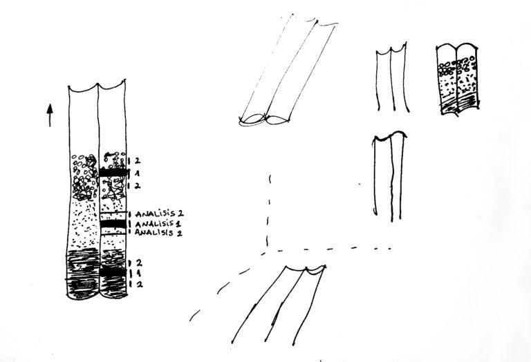 Imagen de diferentes texturas en el interior del tubo