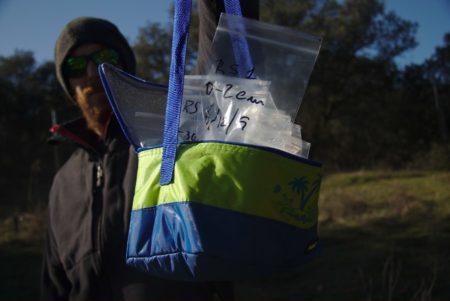 Transportar las muestras en una pequeña nevera
